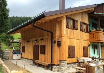 ristrutturazione di casa in legno a Val Visdende, dopo