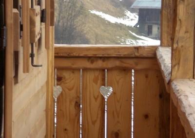 Particolari terrazzo in legno di recupero spazzolato