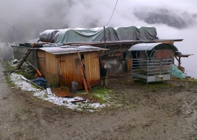 Valle 2012: demolizione e ricostruzione di fabbricato rurale, prima