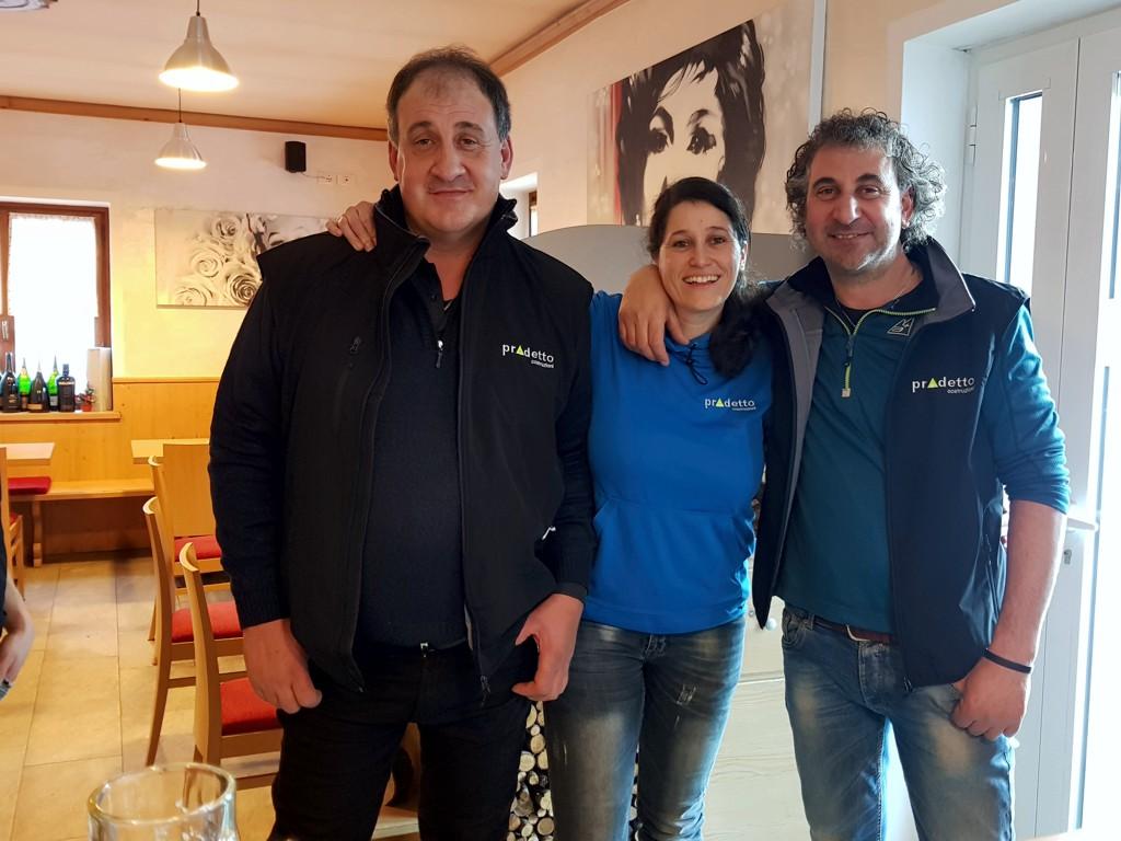 Da sinistra: Alberto, Manuela e Remo